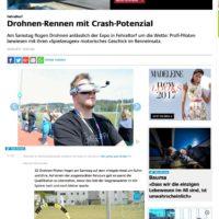Hohe Medienpräsenz für die EXPO 8320 mit dem Drohnenrennen
